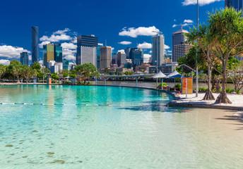 Foto op Canvas Oceanië Streets Beach in South Bank Parkland, Brisbane, Queensland