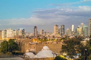 Tel Aviv. Night view from Jaffa.
