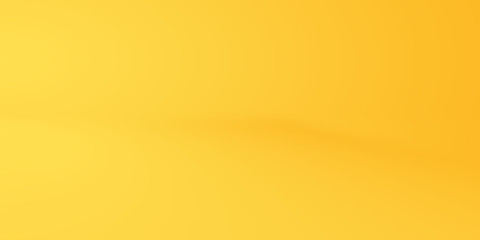 Yellow empty studio room background, template mock up for display of content or product
