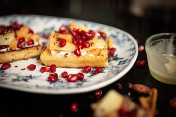 wafers with pomegranates