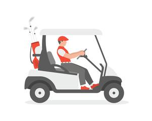 Golf cart. flat style. isolated on white background