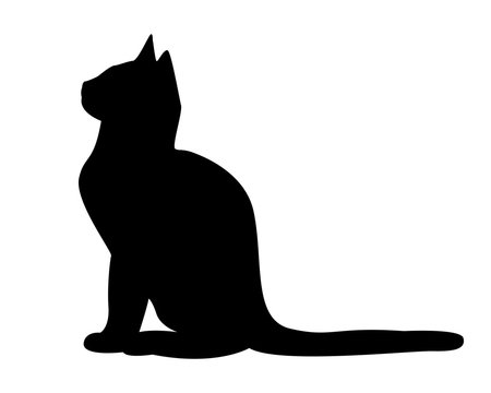 Cat silhouette vector pictogram