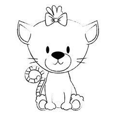 cute and adorable kitty female character