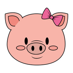 cute and adorable female piggy character