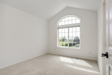 Empty room with pure white walls.