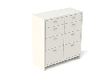 Wardrobe with drawers for clothes, linen, underwear, children's clothes.