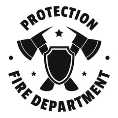 Fire protection department logo. Simple illustration of fire protection department vector logo for web design isolated on white background