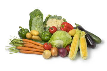 Variety of fresh organic vegetables