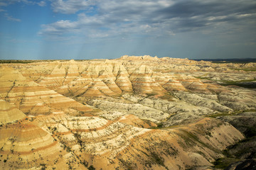 View from Badlands National Park in South Dakota