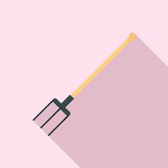 Garden fork icon. Flat illustration of garden fork vector icon for web design
