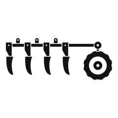 Tractor plow icon. Simple illustration of tractor plow vector icon for web design isolated on white background