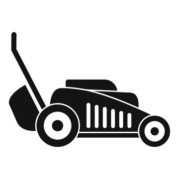 Grass cut machine icon. Simple illustration of grass cut machine vector icon for web design isolated on white background