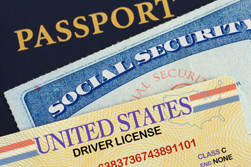 License Social Security and Passport