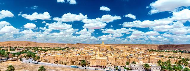 Fotorolgordijn Algerije Ksar Bounoura, an old town in the M'Zab Valley in Algeria