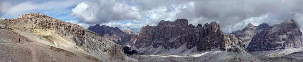 Cortina d'Ampezzo hills panorama