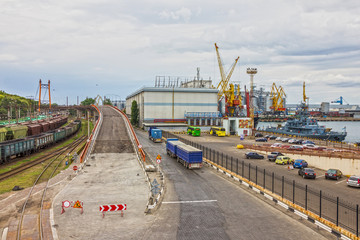 Ukraine. Odessa sea commercial port.