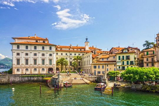 Stresa, Italy: Isola Superiori dei Pescatori island, Lombardy.