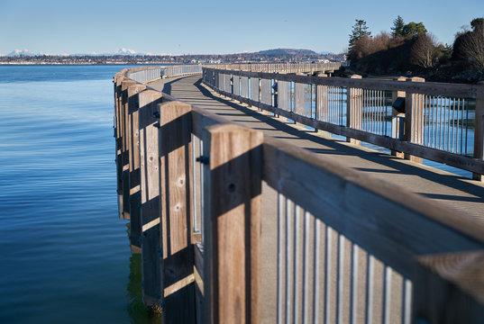 Boulevard Park Pier, Bellingham, Washington. Boulevard Park Pier on the shore of Bellingham Bay in Bellingham, Washington, USA.