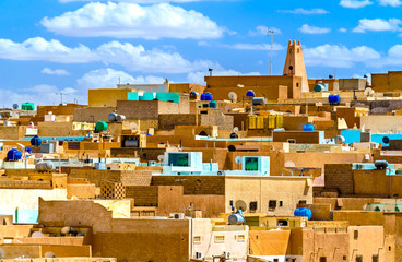 Foto op Plexiglas Algerije El Atteuf, an old town in the M'Zab Valley in Algeria