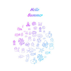Hello summer collection of icons