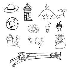 Summer holiday clipart collection of summer icons