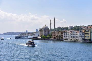 Ortakoy mosque on European side,Istanbul, Turkey.