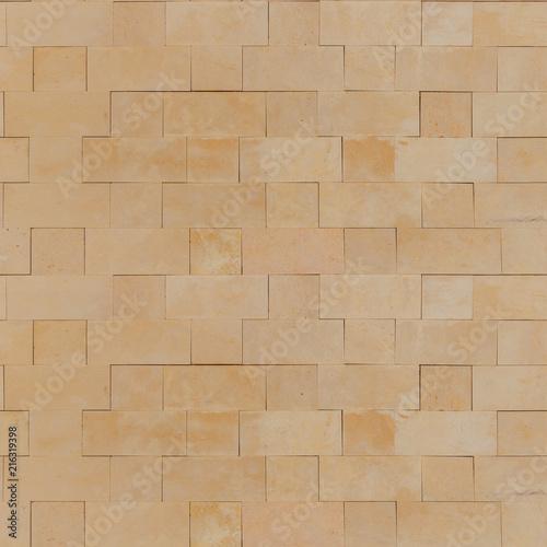 . Seamless Smooth Yellow Stone Blocks Wall Texture   Stock photo and