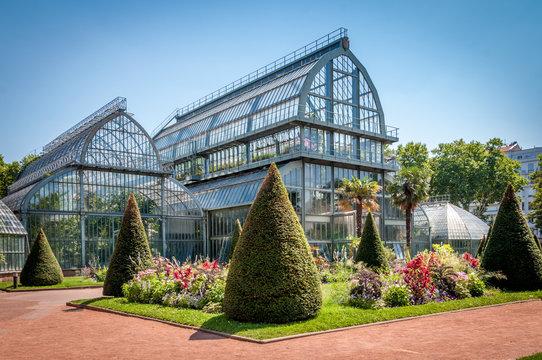 Jardin botanique et serres du parc de la Tête d'Or à Lyon
