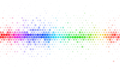 Abstract Rainbow Halftone Mosaic Template
