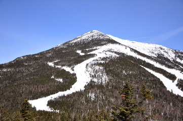 Whiteface Mountain in winter, Adirondack Mountains, New York state, USA.