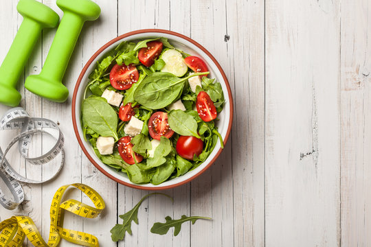 Fitness and healthy eating concept