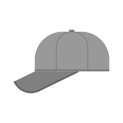 Baseball cap isolated. Summer hat Vector illustration