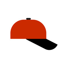 Baseball cap isolated. Summer hat Vector illustration