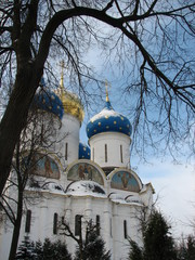 Russian Orthodox Church. Sergiyev Posad. The Golden Ring. Russian Winter.