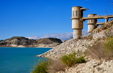 La Pedrera Reservoir in Orihuela. Spain