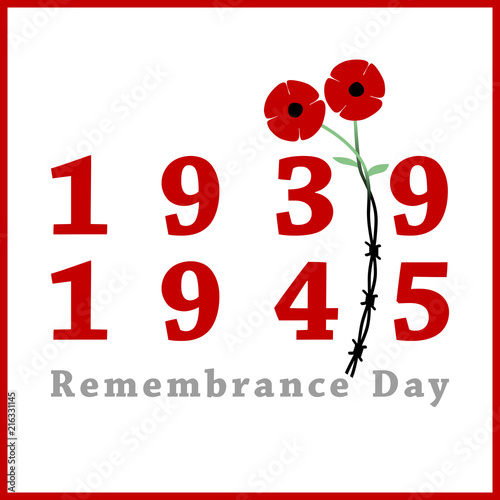 Day Of Remembrance And Reconciliation Red Poppy Flower