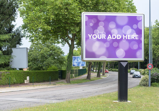 Roadside Billboard Mockup