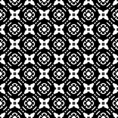 Retro geometric pattern in repeat. Fabric print. Seamless background, mosaic ornament, vintage style.