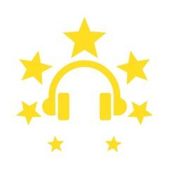Earphone logo. Headphone logo. Headset Symbol. Vector eps 08.