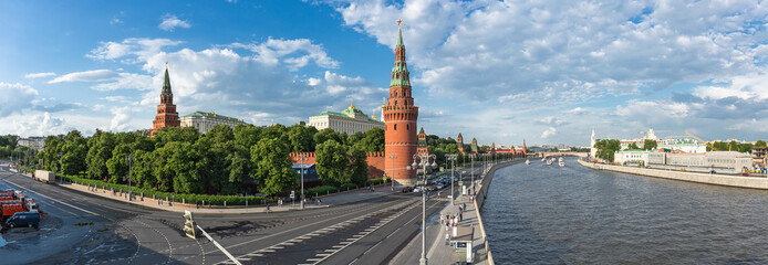 Panoramic view of the Moscow Kremlin and the river