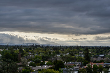 Sunset through the clouds over San Jose, CA 10