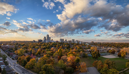 Papiers peints Toronto Midtown Toronto Panorama in Autumn