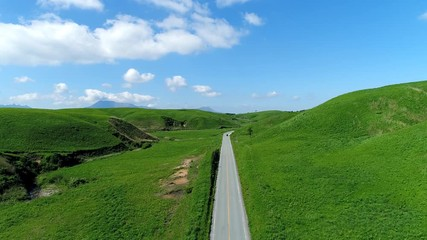 Wall Mural - 阿蘇の風景 ドローン撮影