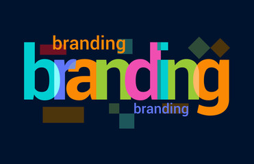 Branding Colorful Overlapping Vector Letter Design Dark Background