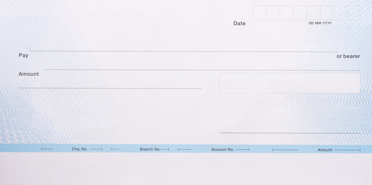 Blank cheque book  for your text. Payment by cheque concept.