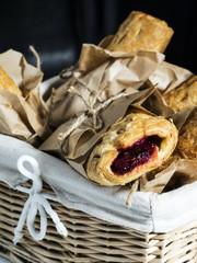 rolls with jam.