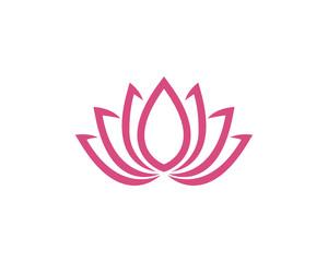 Lotus flowers design logo Template icon