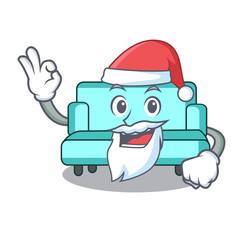 Santa sofa mascot cartoon style