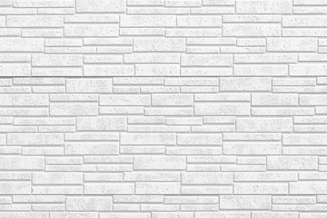 White modern stone tile wall pattern and seamless background