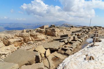 North Terrace on top of Nemrut Mountain.Turkey